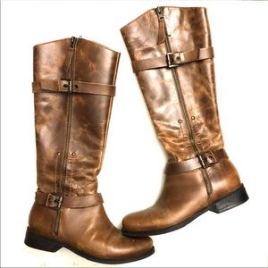 Matisse Militia Brown Leather Riding Boots size 6